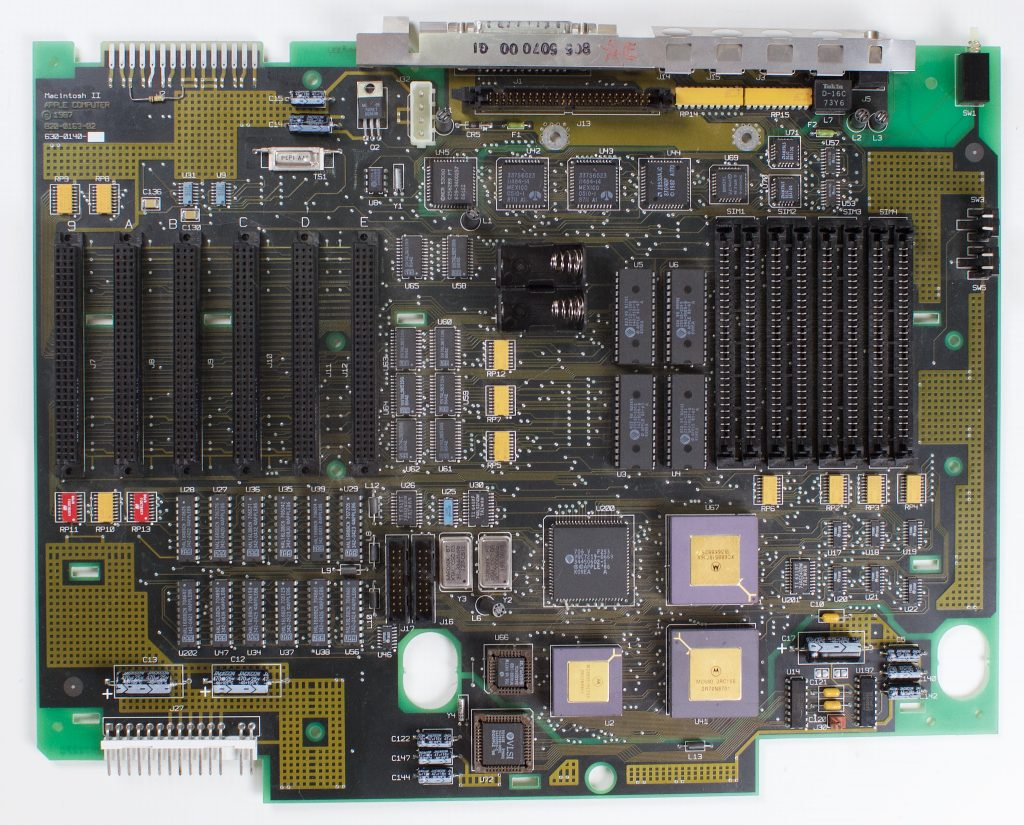 Macintosh II logic board