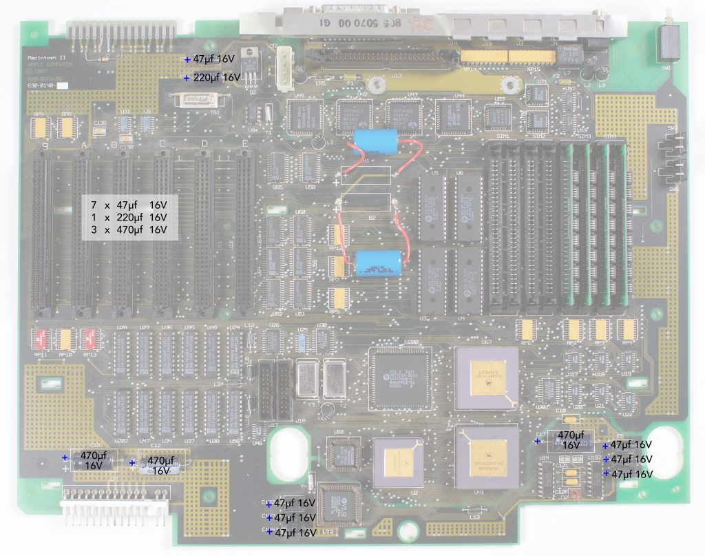 Macintosh II recapping guide