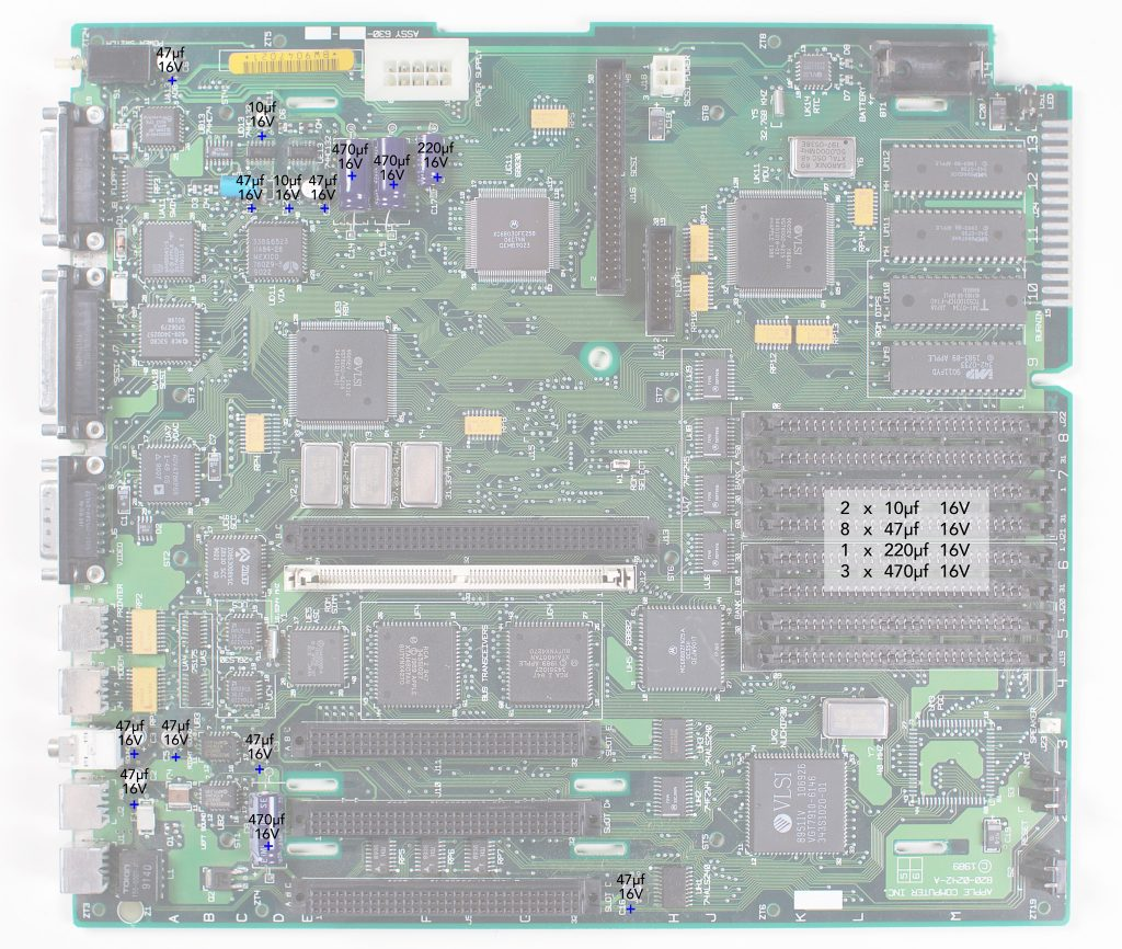 Macintosh IIci recapping guide