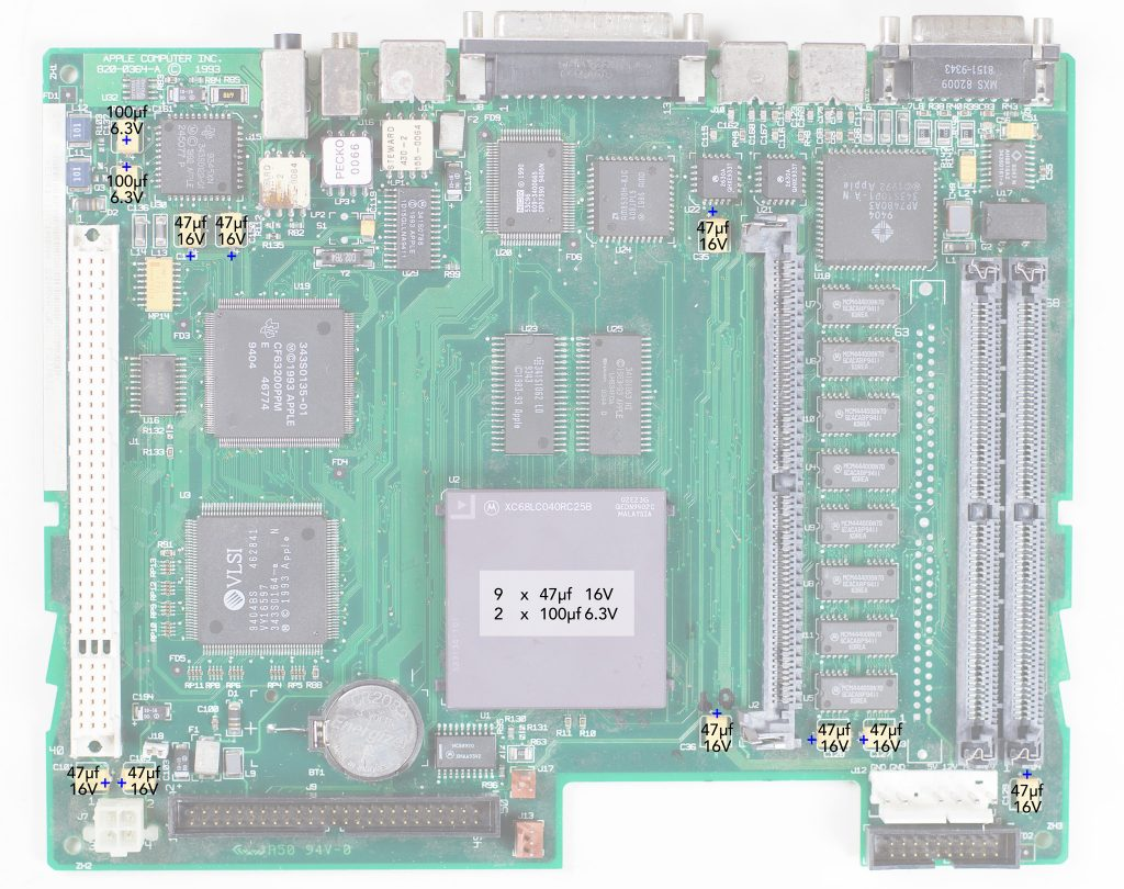 Macintosh LC475 Recapping Guide