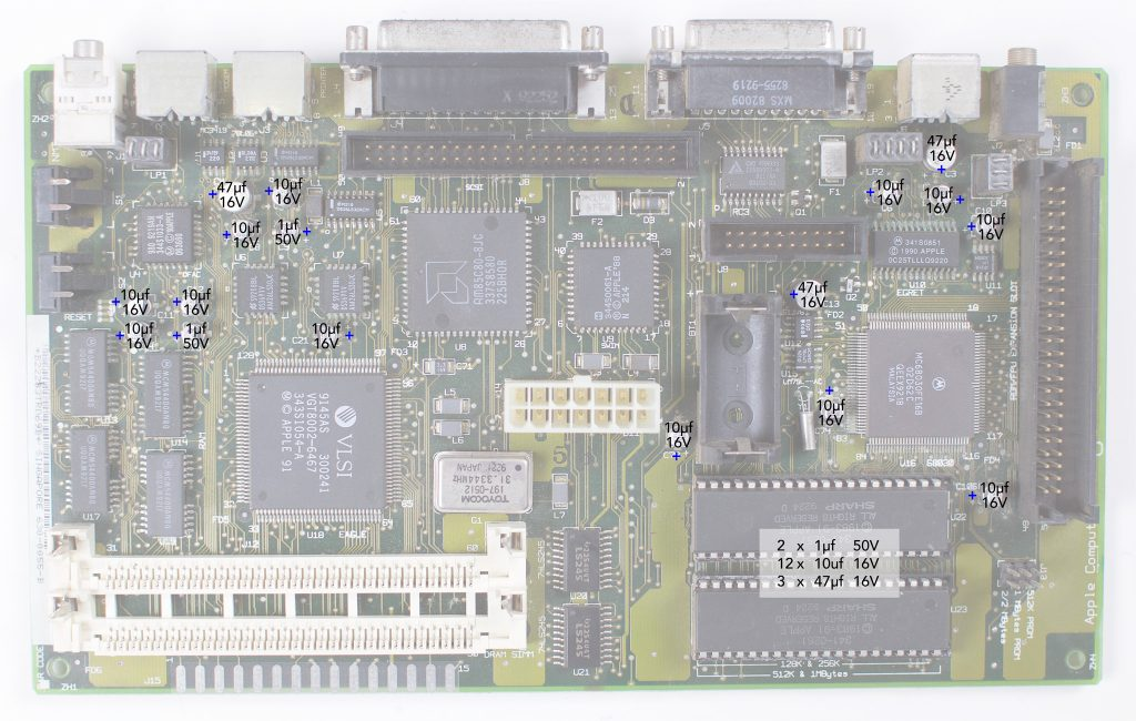 Macintosh Classic II recapping guide