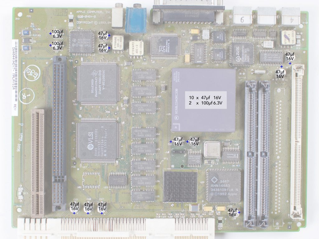Macintosh LC575 recapping guide