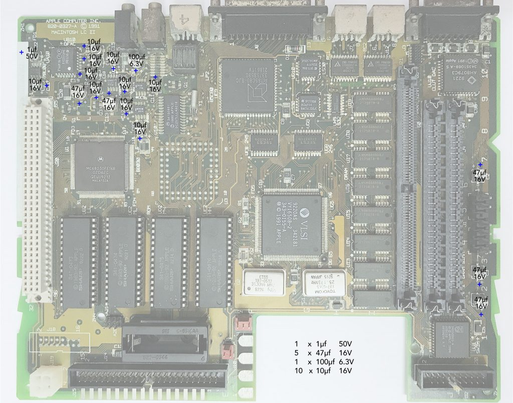 Macintosh LCII recapping guide