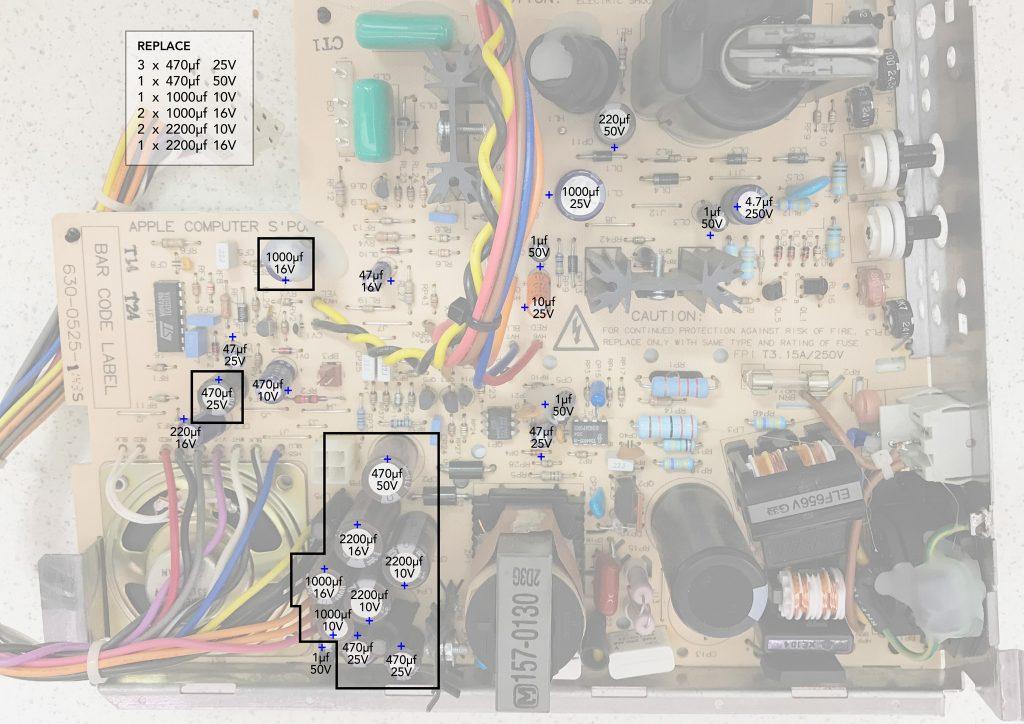 Macintosh Classic Analog Board Recapping Guide