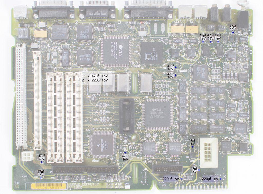 Macintosh IIsi recapping guide