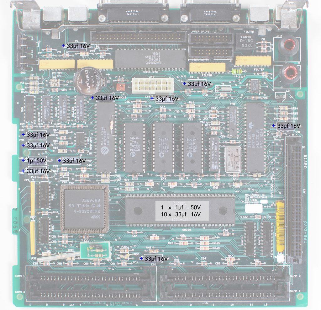 Macintosh SE Recapping Guide