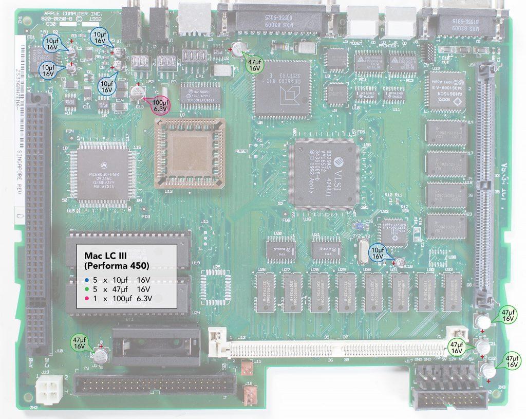 Macintosh LCIII recapping guide